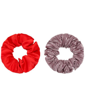 Scrunchie set red and purple